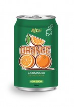 330ml carbonated orange drink low sugar