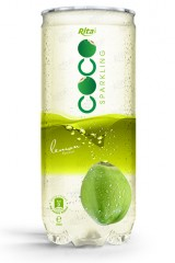 Sparking_coconut_water_with_lemon_flavor_250ml_Pet_can_